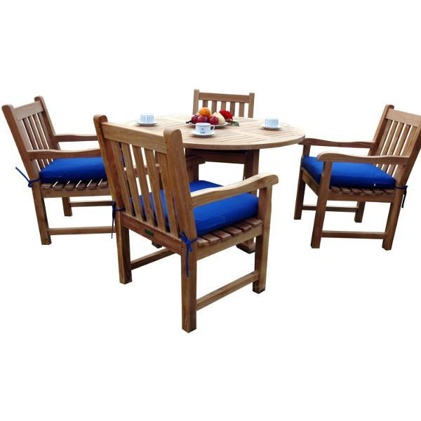 Anderson Teak Tosca Classic Armchair 5-Pieces Dining Set Dining Set