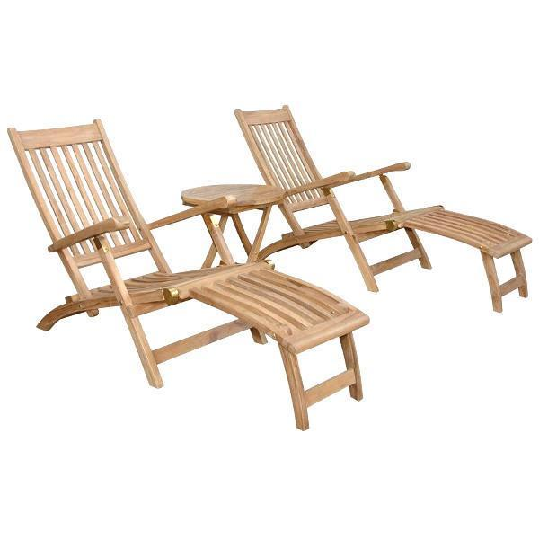 Anderson Teak Tropicana Montage 3-Pieces Steamer Set Seating Set