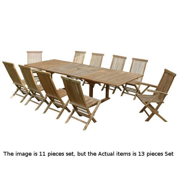 Anderson Teak Valencia Classic 13-Pieces Dining Set Dining Set