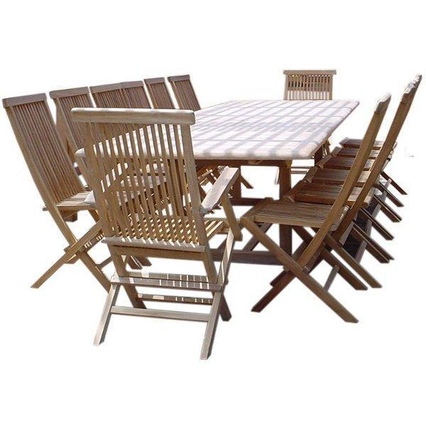 Anderson Teak Valencia Classic 15-Pieces Dining Set Dining Set