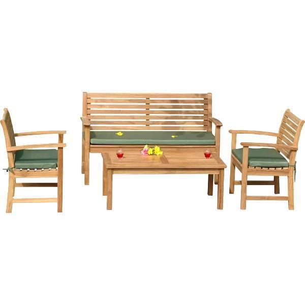 Anderson Teak Victoria Montage 4-Pieces Conversation Set Seating Set