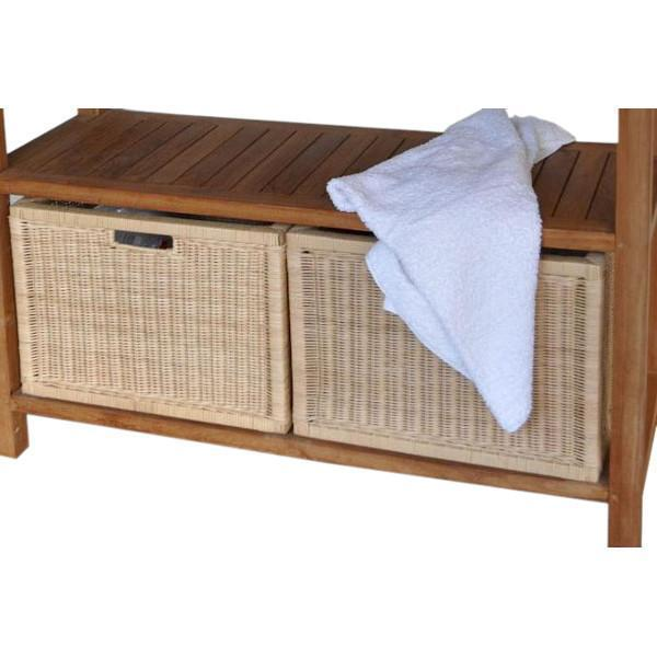 Anderson Teak Wicker Basket for Towel Console TB-4720 (1 pair) basket