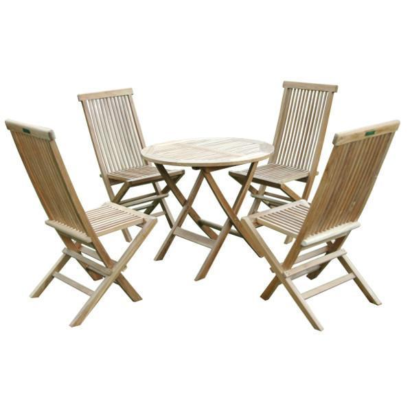 Anderson Teak Windsor Classic 5-Pieces Folding Bistro Set Dining Set