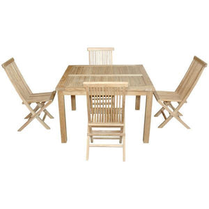 Anderson Teak Windsor Classic 5-Pieces Folding Dining Chair Dining Set