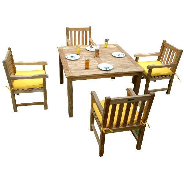 Anderson Teak Windsor Classic Armchair 5-Pieces Dining Table Set Dining Set