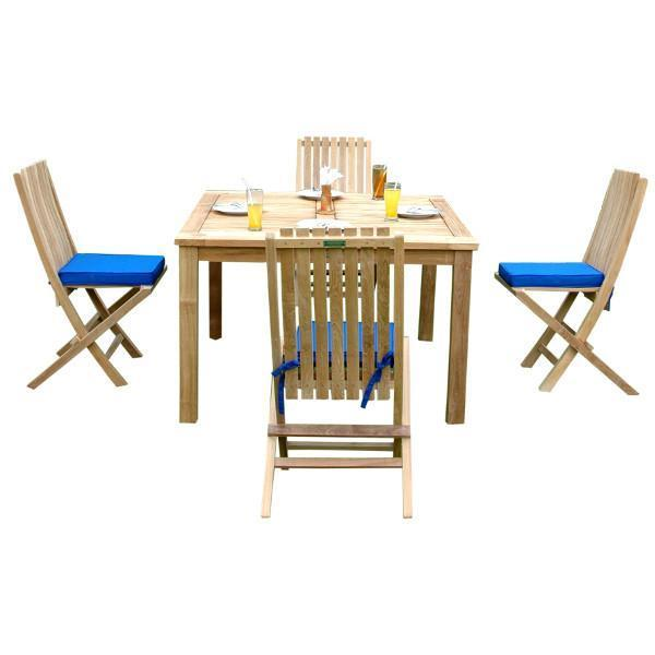 Anderson Teak Windsor Comfort Chair 5-Pieces Folding Dining Set Dining Set