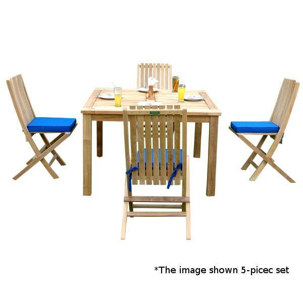 Anderson Teak Windsor Comfort Chair 7-Pieces Folding Dining Set Dining Set
