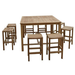 Anderson Teak Windsor Montego 9-Pieces Square Bar Set Bar Set