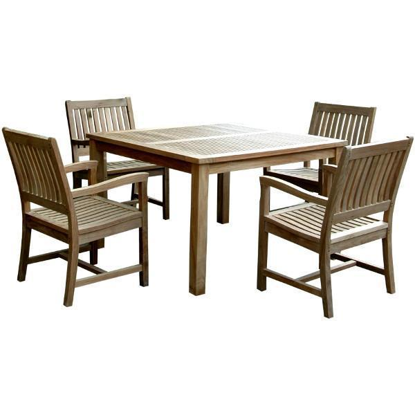 Anderson Teak Windsor Rialto Armchair 5-Pieces Dining Set Dining Set