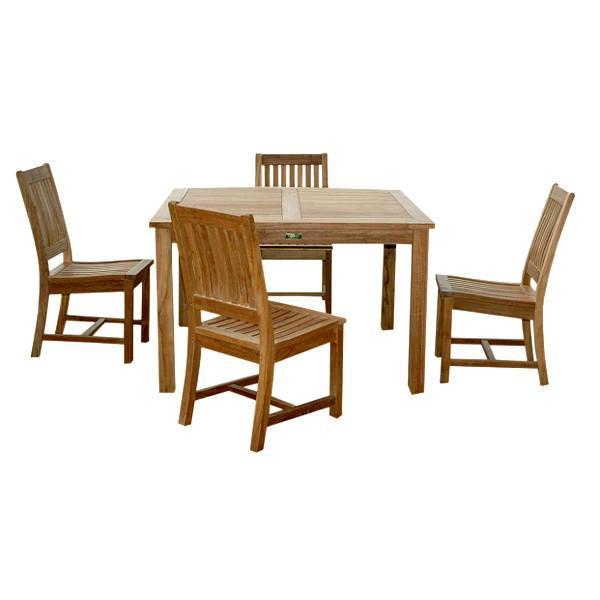 Anderson Teak Windsor Rialto Side Chair 5-Pieces Dining Table Set Dining Set