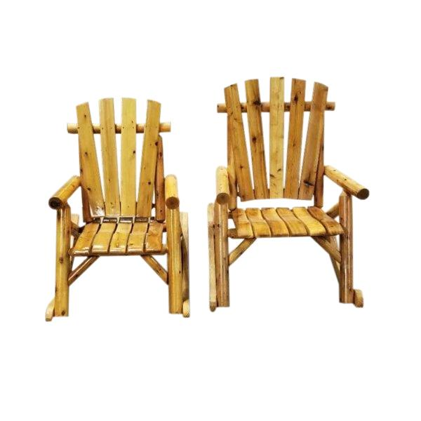 Big Tall And Husky Cedar Log Rocker M-1710