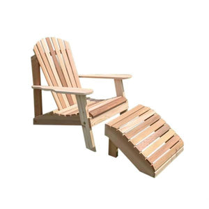 Cedar American Forest Adirondack Chair & Footrest Set