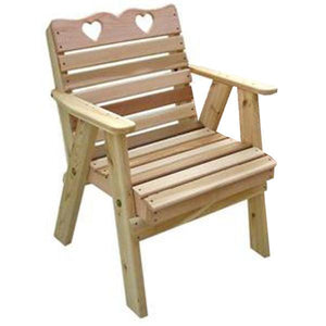 Cedar Country Hearts Patio Chair Outdoor Chair