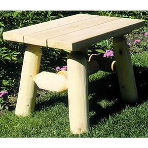 Cedar Log End Table End Table