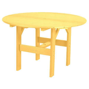 "Little Cottage Co. Classic 46"" Round Table Round Table Yellow"