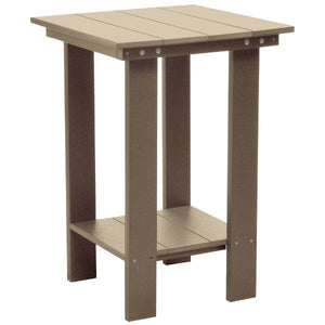 Little Cottage Co. Contemporary Balcony Table Table Weathered Wood
