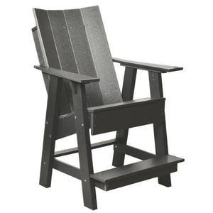 Little Cottage Co. Contemporary High Adirondack Chair Chair Dark Gray