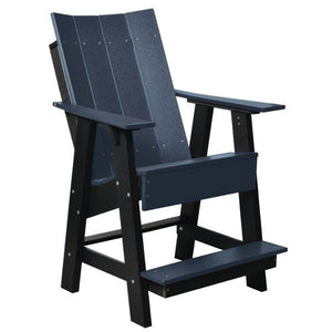 Little Cottage Co. Contemporary High Adirondack Chair Chair Patriot Blue-Black