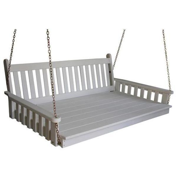 "Yellow Pine 75"" Twin Mattress Traditional English Swingbed"