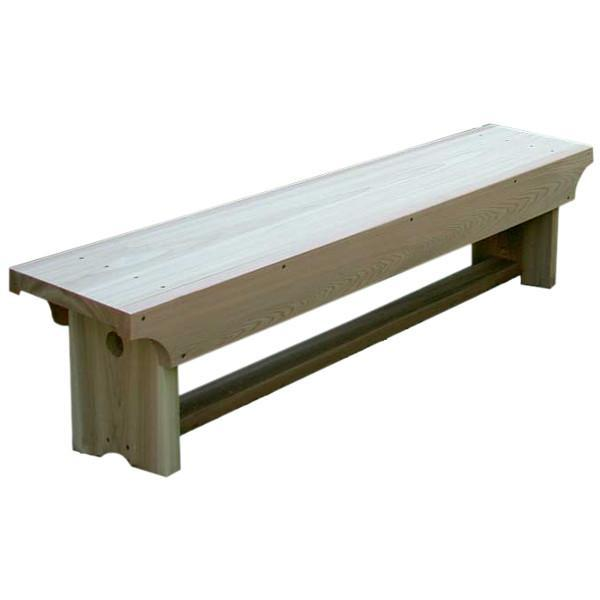 Creekvine Design 5' Cedar 1805 Traditional Heavy Duty Bench Garden Bench Unfinished