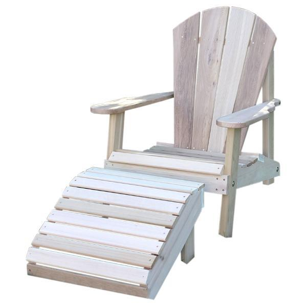Creekvine Design Cedar Adirondack Chair & Footrest Set Adirondack Unfinished