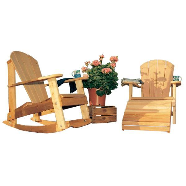 Creekvine Design Cedar Adirondack Collection Outdoor Chair Unfinished