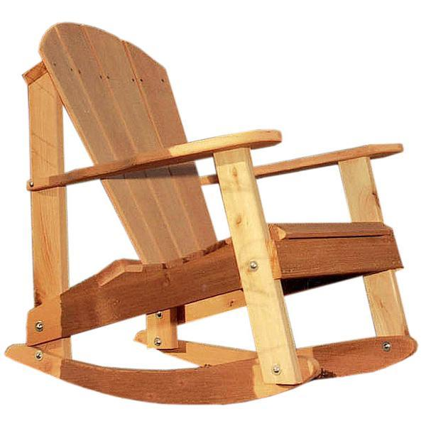Creekvine Design Cedar Adirondack Rocking Chair Adirondack Unfinished