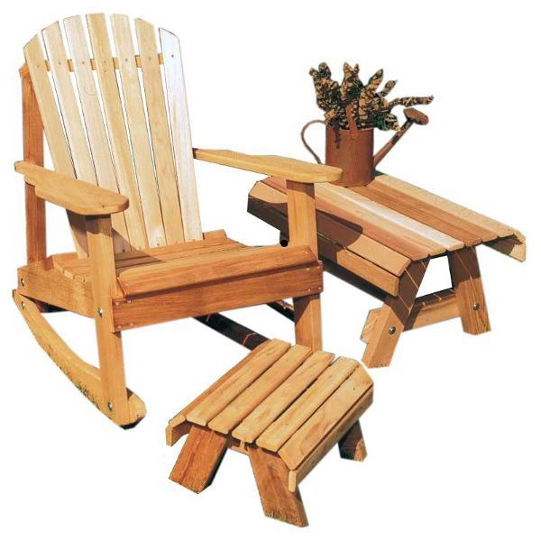 Creekvine Design Cedar American Forest Adirondack Rocker Collection Adirondack Unfinished