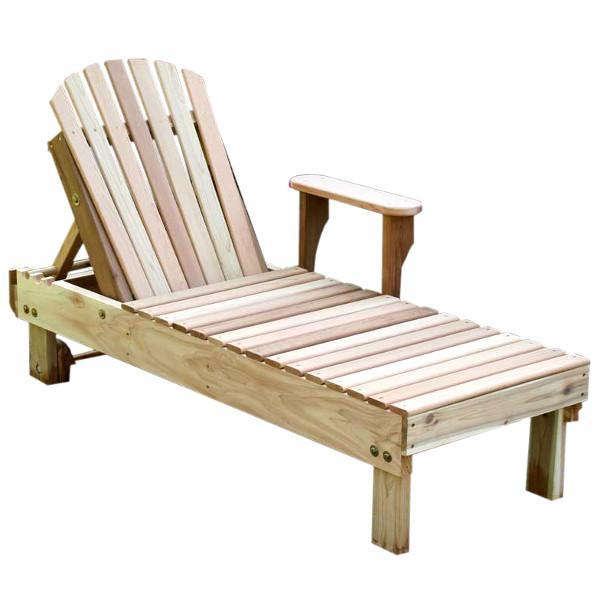 Creekvine Design Cedar American Forest Chaise Lounge Adirondack Unfinished