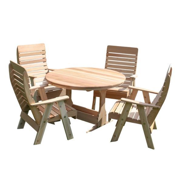 Creekvine Design Cedar Backyard Estate Patio Dining Collection Picnic Table Unfinished
