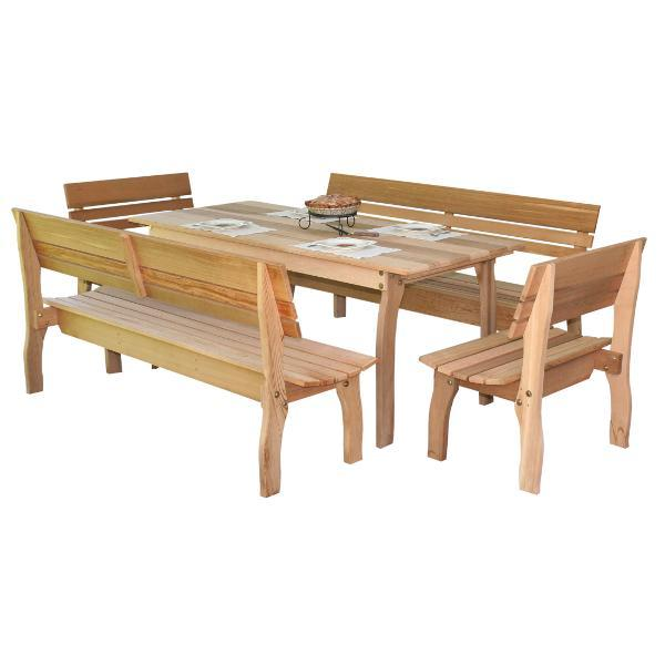 Creekvine Design Cedar Chickadee Dining Set Picnic Table 46 Inch / No