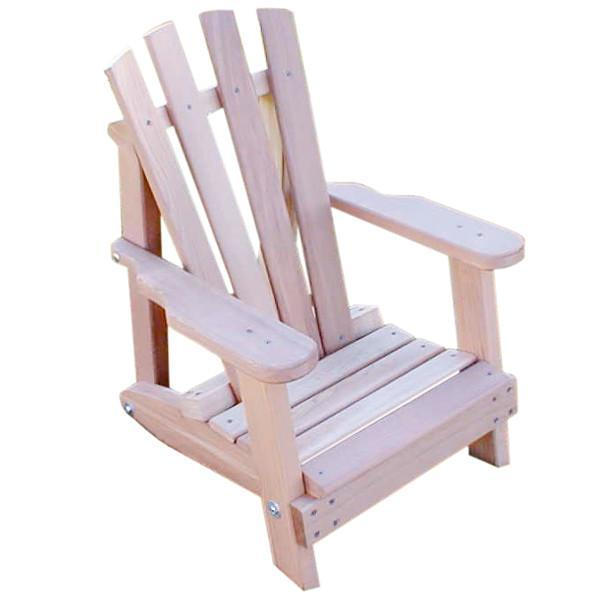 Creekvine Design Cedar Child Size Wide Slat Adirondack Chair Adirondack Unfinished