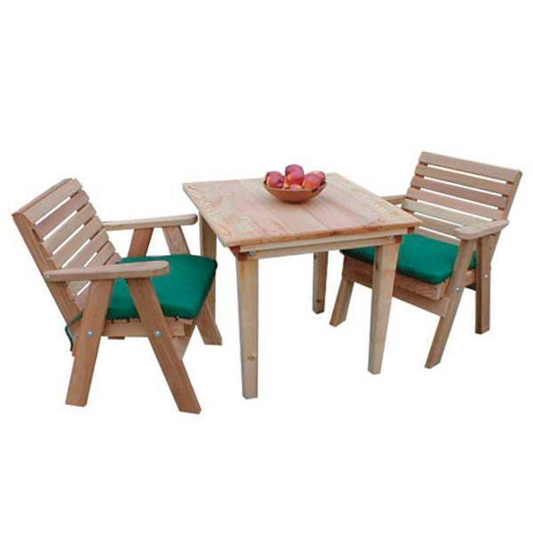 Creekvine Design Cedar Classic Dining Set Picnic Table Unfinished