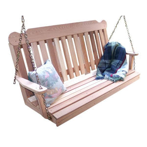 Creekvine Design Cedar Classic Porch Swing Porch Swing 2 ft / Unfinished