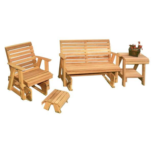 Creekvine Design Cedar Classic Rocking Glider Furniture Collection Glider Unfinished