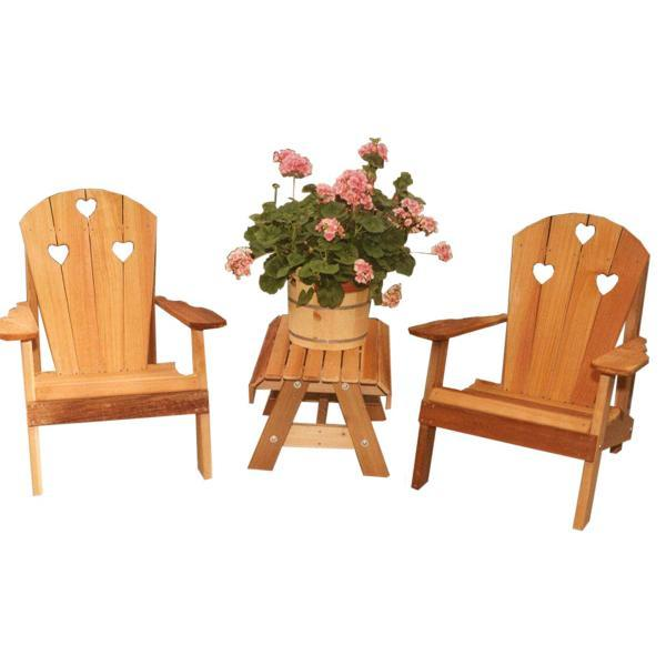 Creekvine Design Cedar Country Hearts Adirondack Chair Collection Outdoor Chair Unfinished