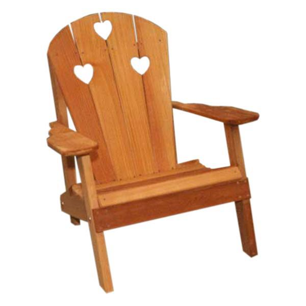 Creekvine Design Cedar Country Hearts Adirondack Chair Outdoor Chair Unfinished