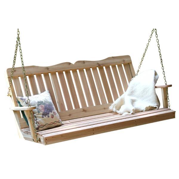 Creekvine Design Cedar Countryside Porch Swing Porch Swing 2 ft / Unfinished