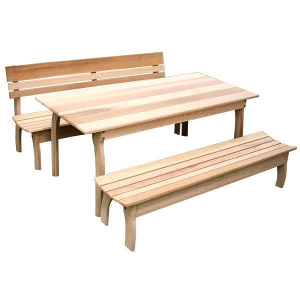 Creekvine Design Cedar Couple Dining Set Picnic Table 46 Inch / No