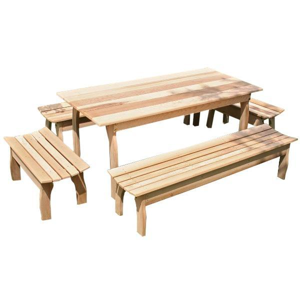 Creekvine Design Cedar Family Dining Set Picnic Table 46 Inch / No