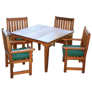 Creekvine Design Cedar Get-Together Dining Set Picnic Table 47 Inch / Unfinished / No
