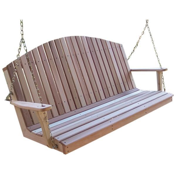 Creekvine Design Cedar Mountaintop Fanback Porch Swing Porch Swing 2 ft / Unfinished