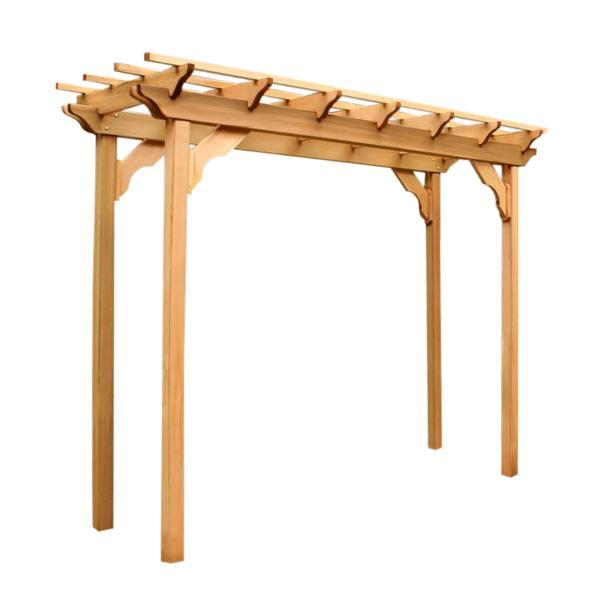 Creekvine Design Cedar New Dawn Pergola Wood Pergolas & Swings 3' x 8' / Unfinished