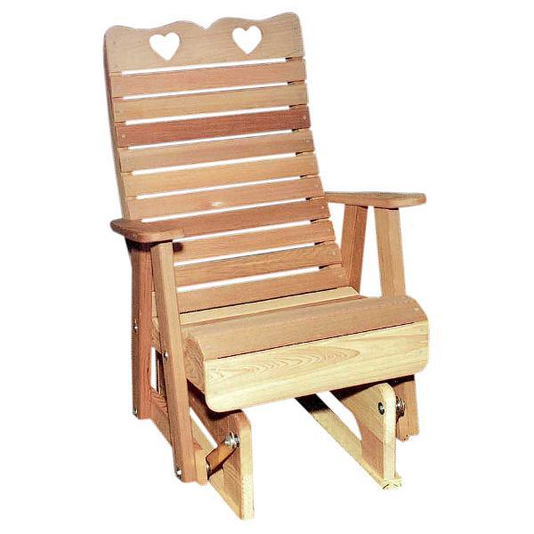 Creekvine Design Cedar Royal Country Hearts Glider Chair Glider