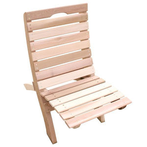 Creekvine Design Cedar Traveling Style Folding Chair Outdoor Chairs Unfinished