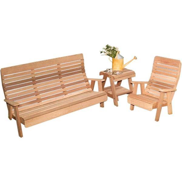 Creekvine Design Cedar Twin Ponds Bench & Chair Collection Garden Benches Unfinished