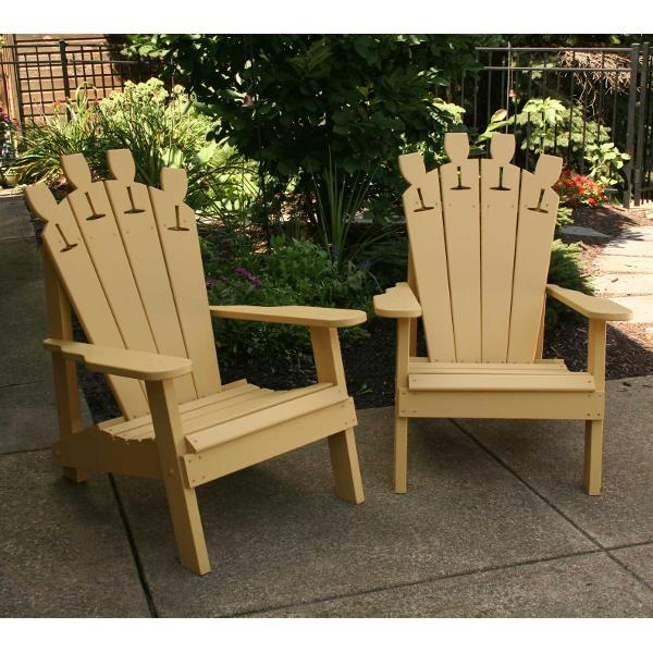 Creekvine Design Cedar Wine Glass Adirondack Chair Outdoor Chair Unfinished