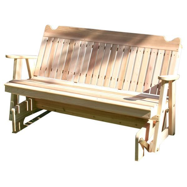 Creekvine Design Red Cedar Straight Back Glider Glider 4 ft / Unfinished