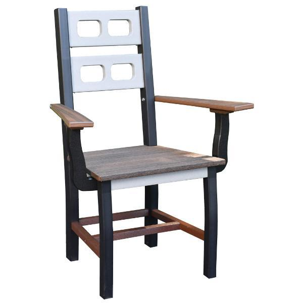 David Lewis Manhattan Forge Dining Chair with Arms