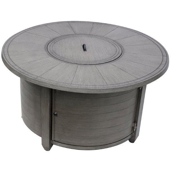 Faux Wood Round Aluminum Fire Pit Fire Pits